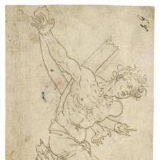 Crucificado en un árbol