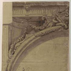 Decoración de la parte superior de un arco