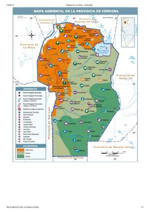 Mapa ambiental de Córdoba. Mapoteca de Educ.ar