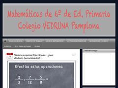 Blog de Matemáticas para 6°