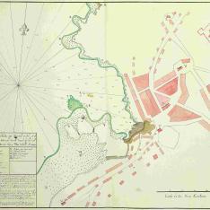 Plano del Puerto de la Guardia