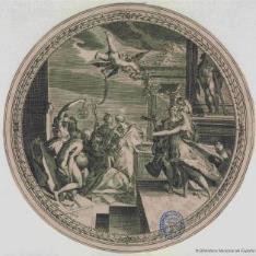 Minerva y la Pintura con las musas
