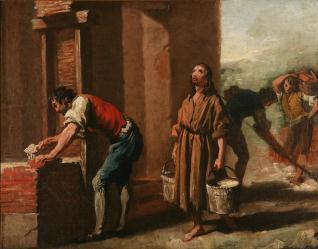 San Francisco reparando la capilla de San Damián