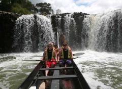 Emoción en las cascadas de Haruru