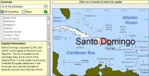 Capitals of the Caribbean. Tutorial. Sheppard Software