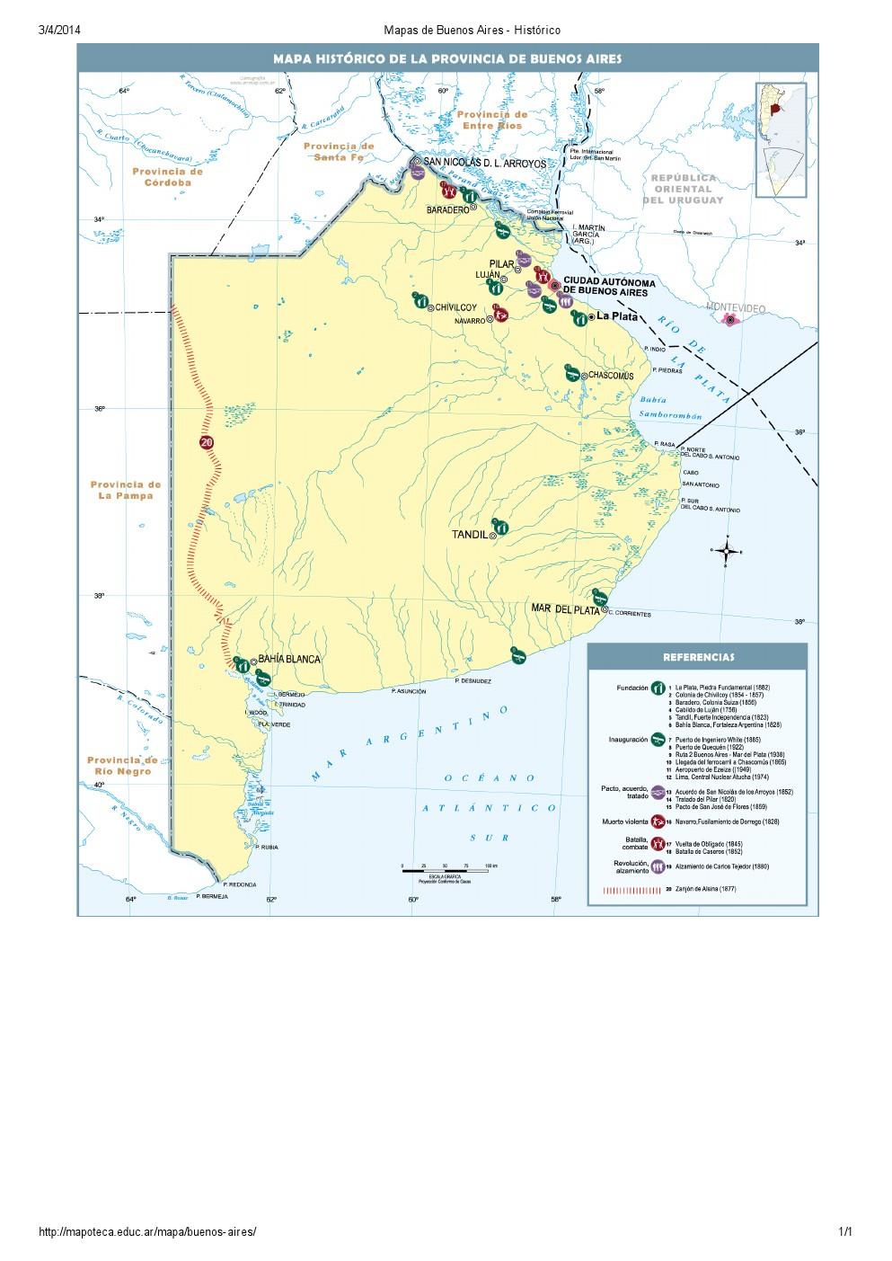 Mapa histórico de Buenos Aires. Mapoteca de Educ.ar