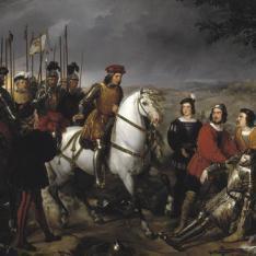 El Gran Capitán recorriendo el campo de la Batalla de Ceriñola