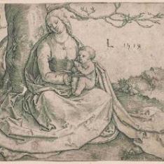 La Virgen sentada bajo un árbol
