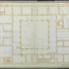 Planta del Palacio Farnese, Roma