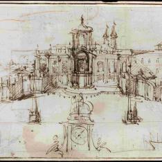Proyecto para la fachada y plaza de San Giovanni in Laterano