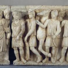 Sarcófago con escenas del mito de Aquiles y Políxena