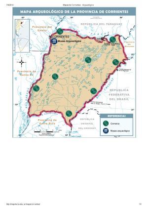 Mapa arqueológico de Corrientes. Mapoteca de Educ.ar