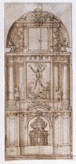Proyecto de retablo para San Andrés, de Madrid / Cabezas