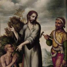 Asunto místico: alegoría de Cristo en el Calvario