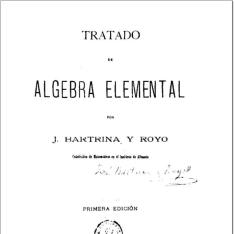 Tratado de álgebra elemental