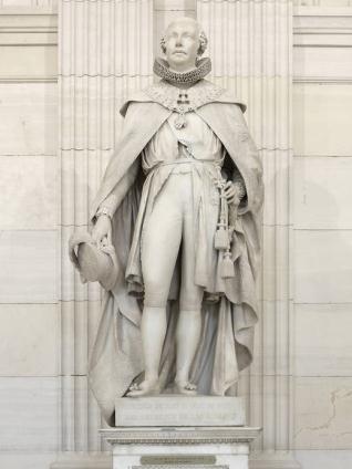 El rey Francisco de Asís con el hábito de la Orden de Carlos III