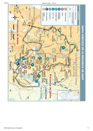 Mapa turístico de Jujuy. Mapoteca de Educ.ar