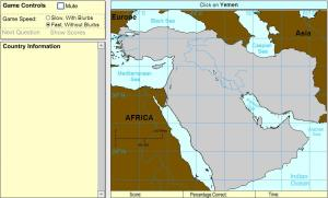 Countries of Middle East. Advanced Intermediate. Sheppard Software