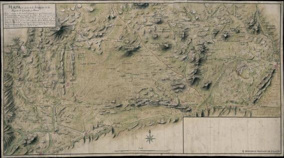 Mapa de parte de la Jurisdicción de los Reynos de Granada y Murcia