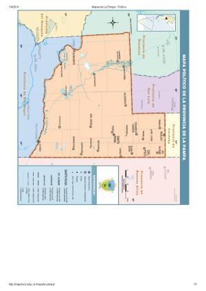 Mapa de capitales de La Pampa. Mapoteca de Educ.ar