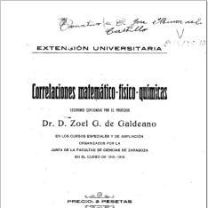 Correlaciones matemático-físico-químicas