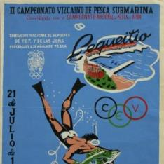 II Campeonato vizcaino de pesca submarina / coincidiendo con el Campeonato Nacional de Pesca de Atún / Lequeitio / 21 de julio de 1957