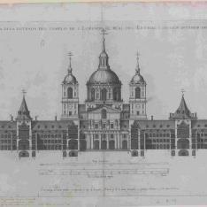 Tercer Diseño, Alzado del frente del templo y sección del interior del colegio y convento