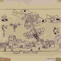 Combate aéreo en Madrid