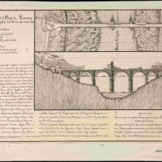 Plano y Elevacion del Puente de Alcantara ...
