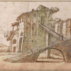 Casa rústica romana en ruinas