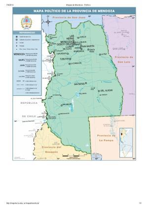 Mapa de capitales de Mendoza. Mapoteca de Educ.ar