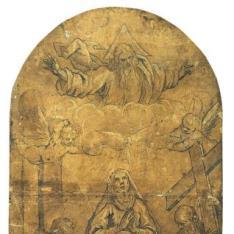 La Aparición de Dios Padre a La Virgen con el Niño, Santa Ana, San Jerónimo y San Andrés