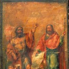 Los Santos Juanes (San Juan Bautista y San Juan Evangelista ante la visión del Cordero Apocalíptico)
