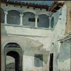 Patio de San Juan de la Cartuja de Porta Coeli, Valencia - Patio de una casa valenciana