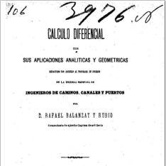 Cálculo diferencial con sus aplicaciones analíticas y geométricas