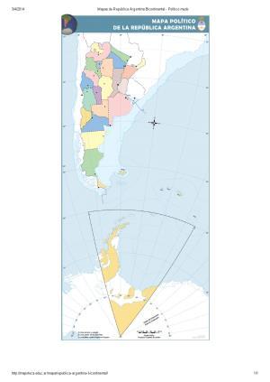 Mapa mudo de provincias de Argentina bicontinental. Mapoteca de Educ.ar