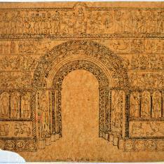 Portada del monasterio de Ripoll, Gerona