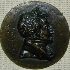 Medallón con el retrato de Dieudonne de Las Cases