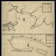 Plano del puerto y ensenada de Montebideo en el Río dla Plata