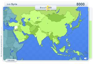 Geo Quizz Asia . Geography map games
