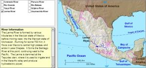Rivers of Mexico. Tutorial. Sheppard Software