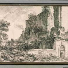 Vista de un monumento antiguo en Italia