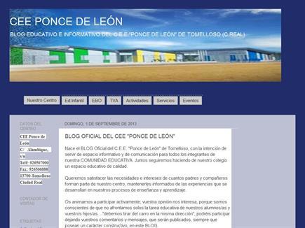 """BLOG EDUCATIVO E INFORMATIVO DEL C.E.E.""""PONCE DE LEÓN"""" DE TOMELLOSO (C.REAL)"""