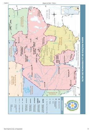 Mapa de capitales de Salta. Mapoteca de Educ.ar