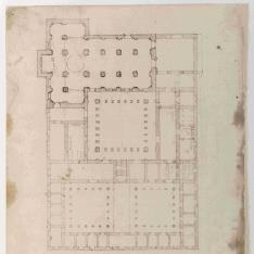Planta del monasterio de San Pablo el Real de Sevilla