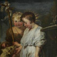Jesús con San Juanito y el Cordero