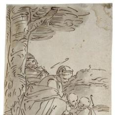 La Virgen, el Niño y San Juanito [Regreso de la Huida a Egipto (¿?)]