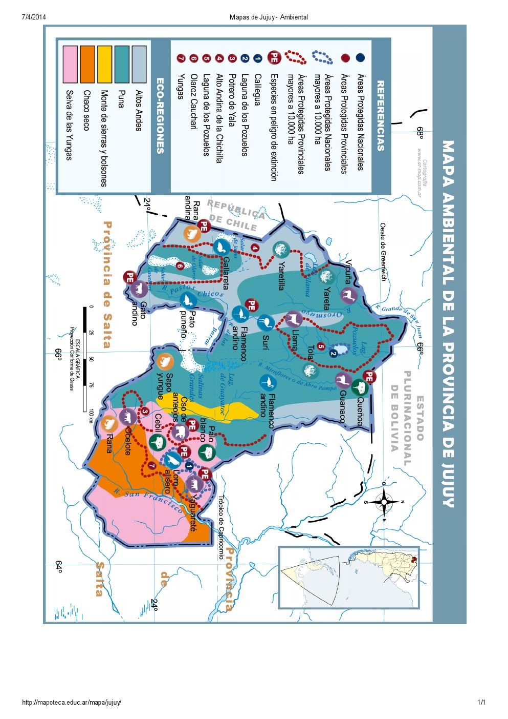 Mapa ambiental de Jujuy. Mapoteca de Educ.ar
