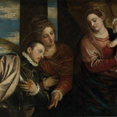 La Virgen y el Niño con Santa Lucía y un santo mártir