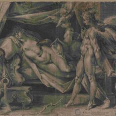 Eros descubriendo a Psique en su lecho